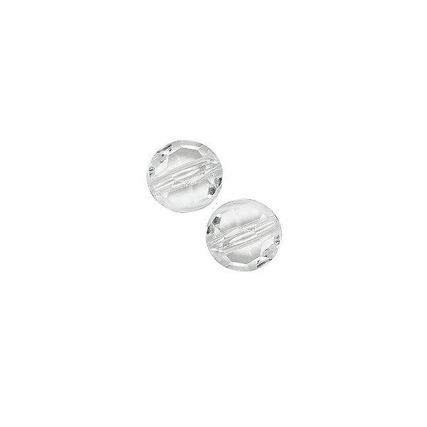 05-0784 - Pacote com 1 Kg de Acrílico Cristal Disco Facetado 10mm