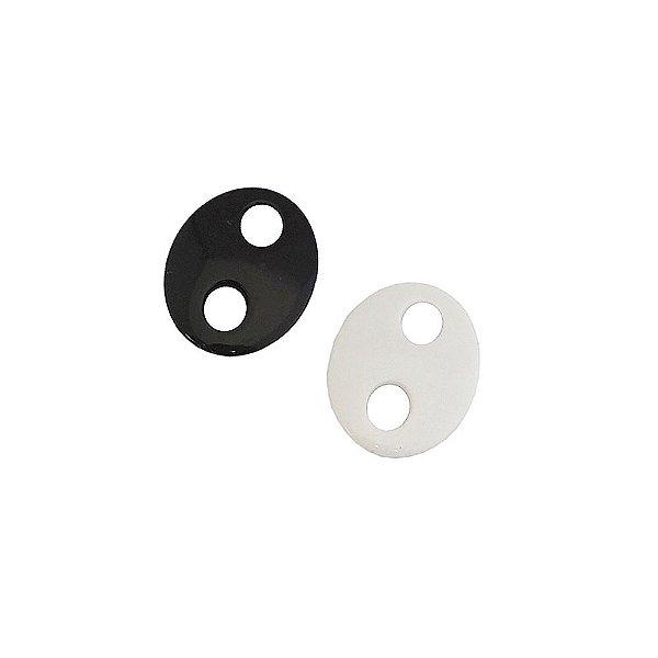 05-0788 - Pacote com 1 Kg de Acrílico Colorido Oval com Dois Furos 22mmx25mm