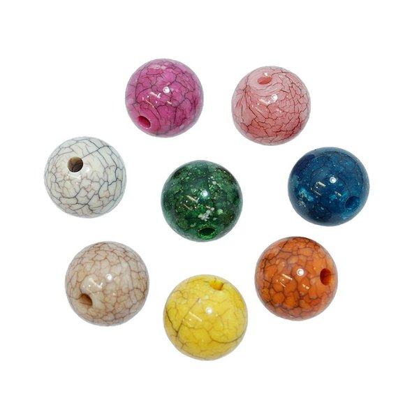 05-0816 - Pacote com 1 Kg de Acrílico Colorido Bola Imitação de Pedra 18mm