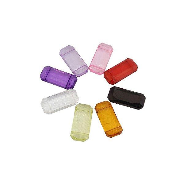 05-0849 - Pacote com 1 Kg de Acrílico Colorido Pastilha com Duplo Passante 13mmx29mm