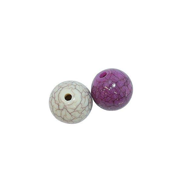 05-0898 - Pacote com 1 Kg de Acrílico Colorido Bola Imitação de Pedra  16mm