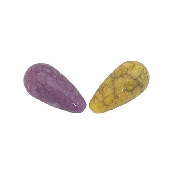05-0923 - Pacote com 1 Kg de Acrílico Colorido Gota Imitação de Pedra 11mmx22mm