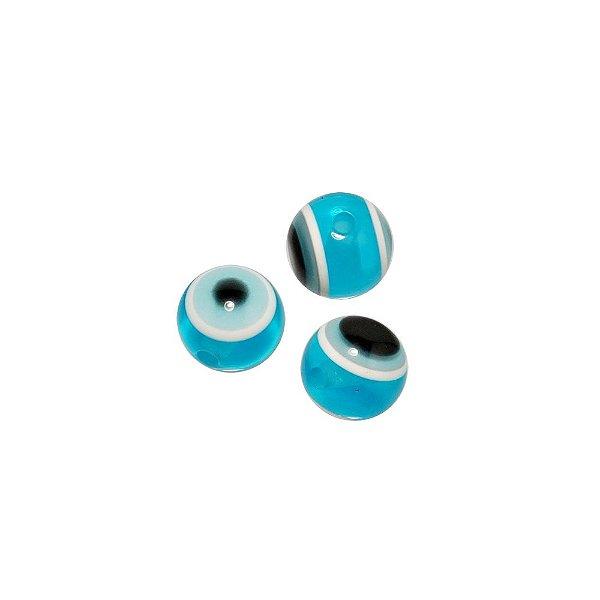 05-1025 - Pacote com 1.000 Acrílicos Olho Grego Turquesa 10mm