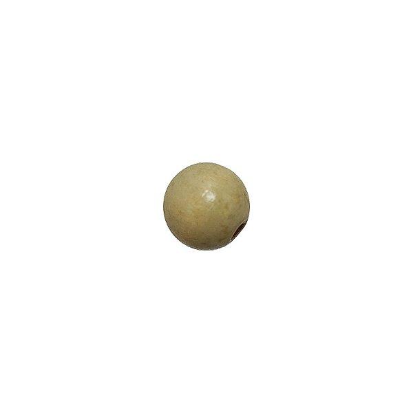04-0001 - Pacote com 1000 Bolas em Madeira Marfim  com Passante 12mm