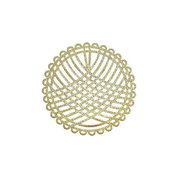 01-2122 - 1/2Kg de Estamparia Diamantada Redonda Rendada 45mm