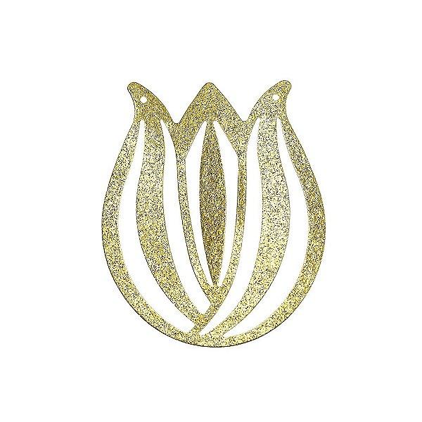 01-2123  - 1/2Kg de Estamparia Diamantada Tulipa 45mmx55mm