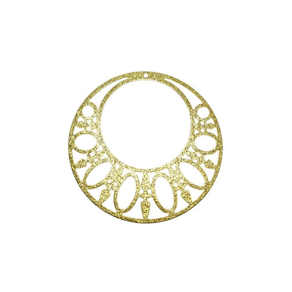 01-2128 - 1/2Kg de Estamparia Diamantada Redonda com Recortes Ovais 41,5mm