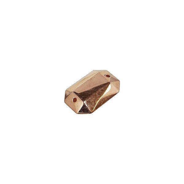 00-0247 - Pacote com 1 Kg de Retângulo Facetado em ABS 24mmx17mm