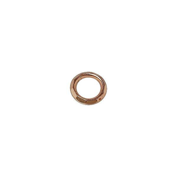 00-0243 - Pacote com 1 Kg de Argola Facetada em ABS 12mm