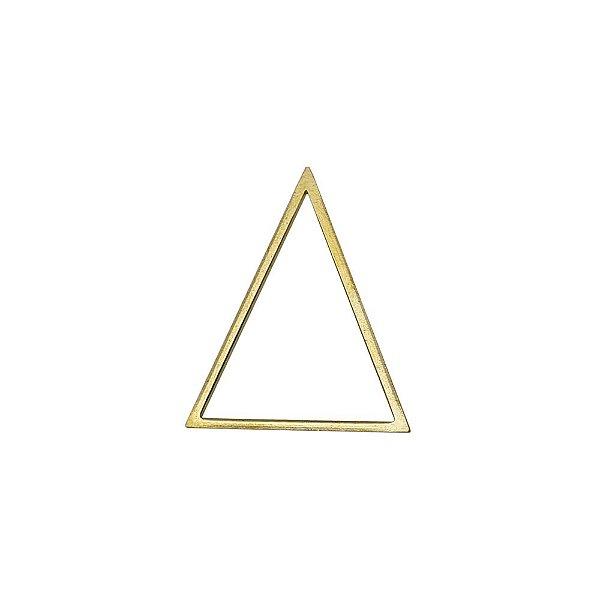 01-2135 - Pacote com 1/2 Kg de Triângulo em Latão 30mmx38mm