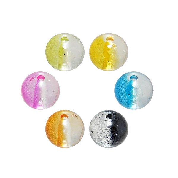 05-0767 - Pacote com 1 Kg de Acrílico Transparente Bola com Passante 14mm