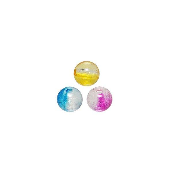 05-0764 - Pacote com 1 Kg de Acrílico Transparente Bola com Passante 08mm