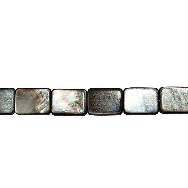 12-0124 - Fio de Madrepérolas Negras Retangulares 16mmx12mm