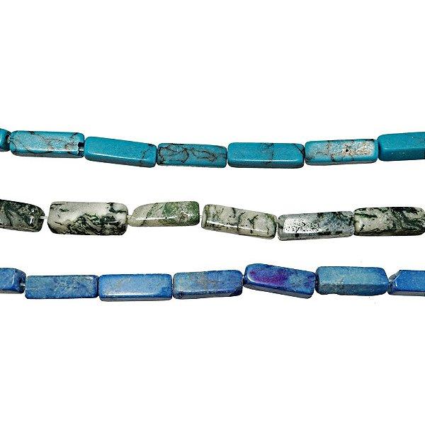 10-0201 - Fio de Pedras Retangulares com Passante 11mmx3mm