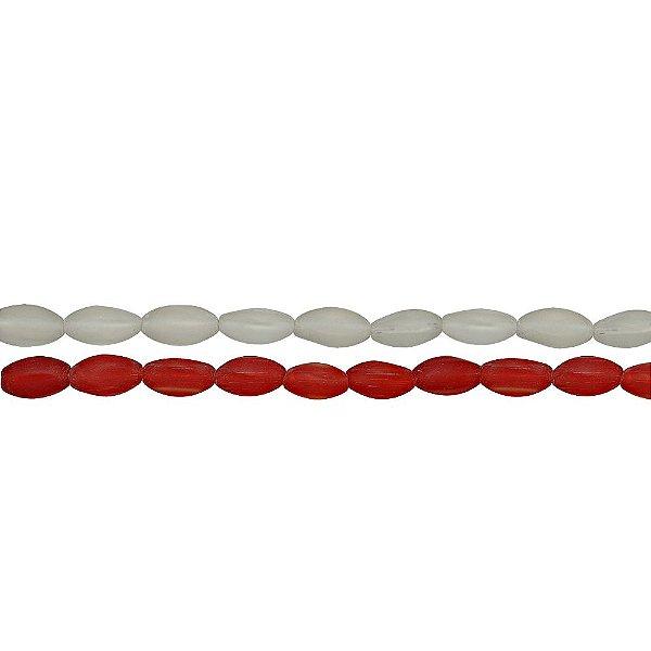 11-0022 - Fio de Contas de Vidro Fosco 13mm