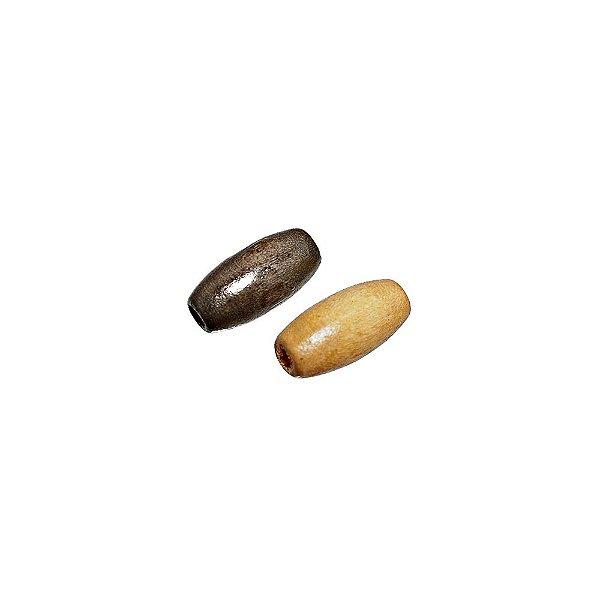 04-0018 - Pacote com 1000 Madeiras Tubo com Passante 15mmx7mm