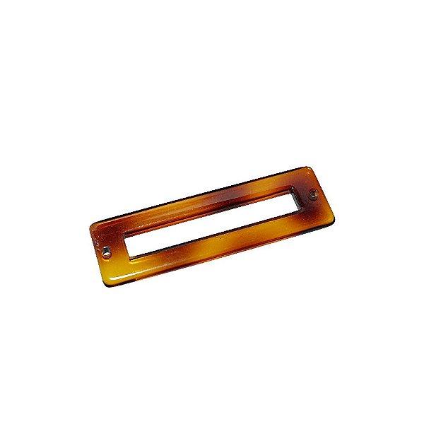 05-0879 - Pacote com 100 Acrílicos Retangulares com Furo 50mmx15mm