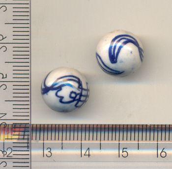 11-0121 - Pacote com 100 Bolas em Porcelana 12mm