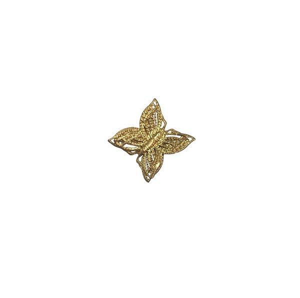 01-0023 Pacote com 500 Pingente Borboleta em latão 12mm