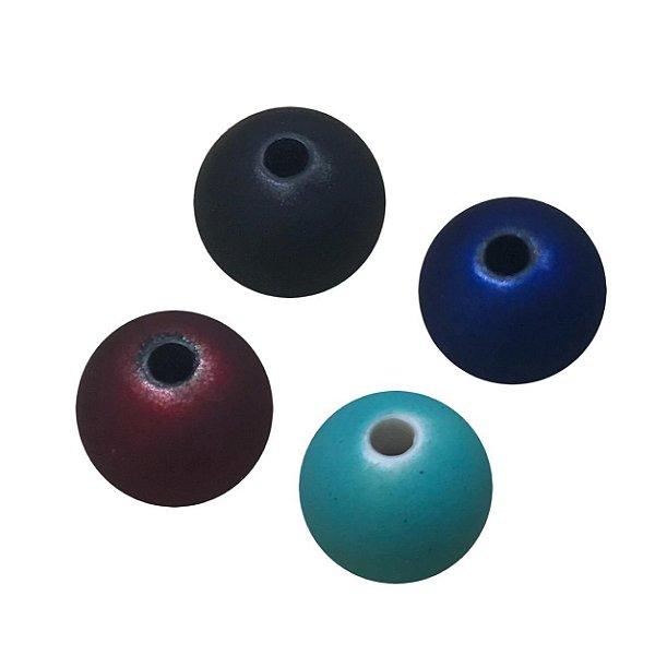 05-1117 Pacote com 1kg Bola Fosco Plástica Emborrachada 14mm