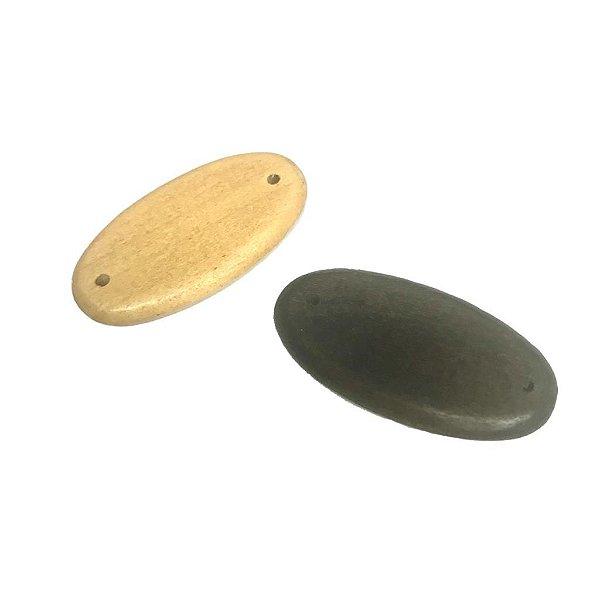 04-0079 Pacote com 200 Madeiras Ovais 44mm x 23mm c/ dois Furos