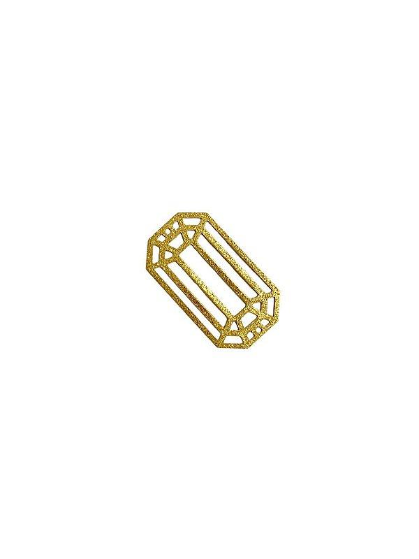 01-2398 1/2kg de Estamparia Diamantada Retangular em Latão M 29mm x 22mm