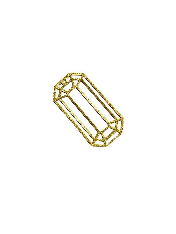 01-2399 1/2kg de Estamparia Diamantada Retangular em Latão G 39mm x 20mm