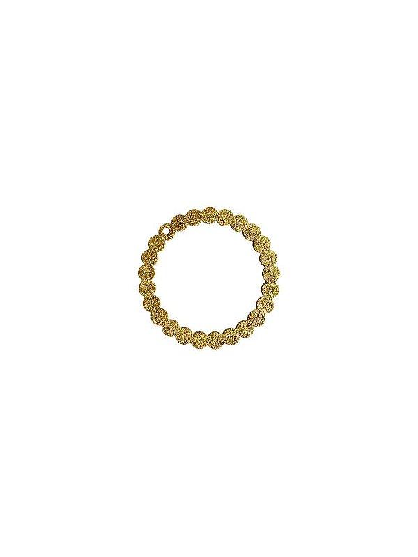 01-2407 1/2kg de Estamparia Círculo Lixada em Latão G 33mm