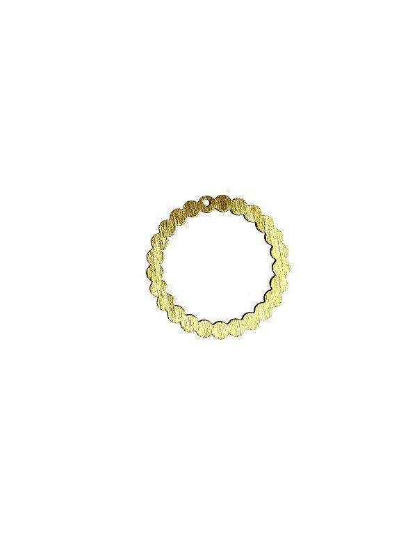 01-2408 1/2kg de Estamparia Círculo Diamantada em Latão G 33mm