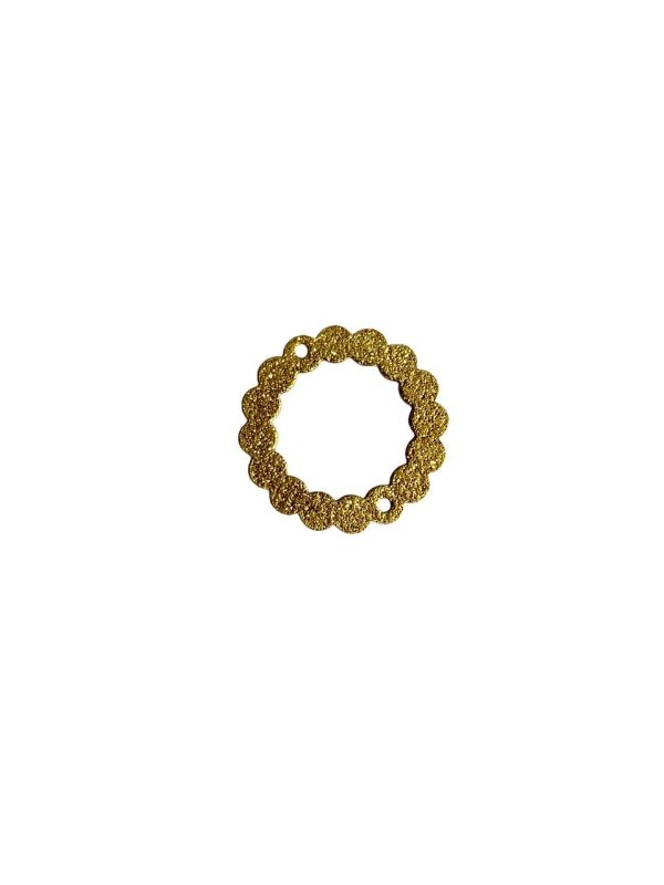 01-2450 1/2kg de Estamparia Círculo Diamantada em Latão M 22mm