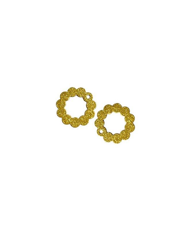 01-2409 1/2kg de Estamparia Círculo Diamantada em Latão P 12mm
