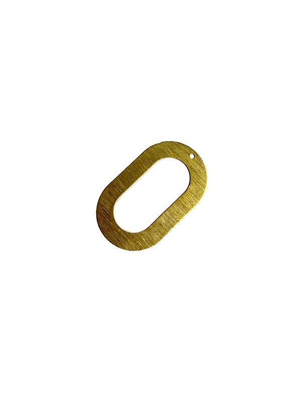 01-2413 1/2 kg de Estamparia Oval Vazada Lixada G 37mm x 23mm