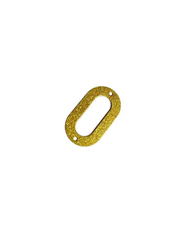01-2411 1/2 kg de Estamparia Oval Vazada Diamantada M 28mm x 16mm
