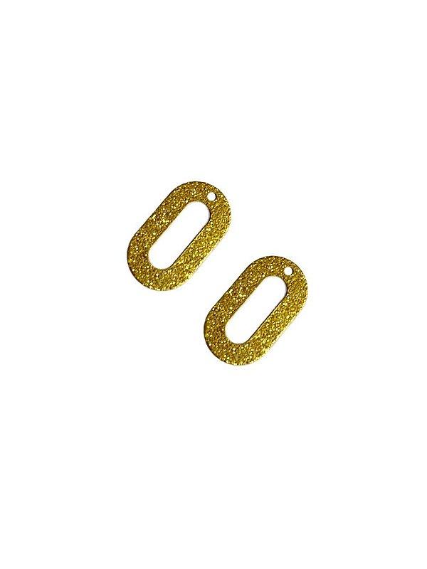 01-2412 1/2 kg de Estamparia Oval Vazada Diamantada P 19mm x 11mm