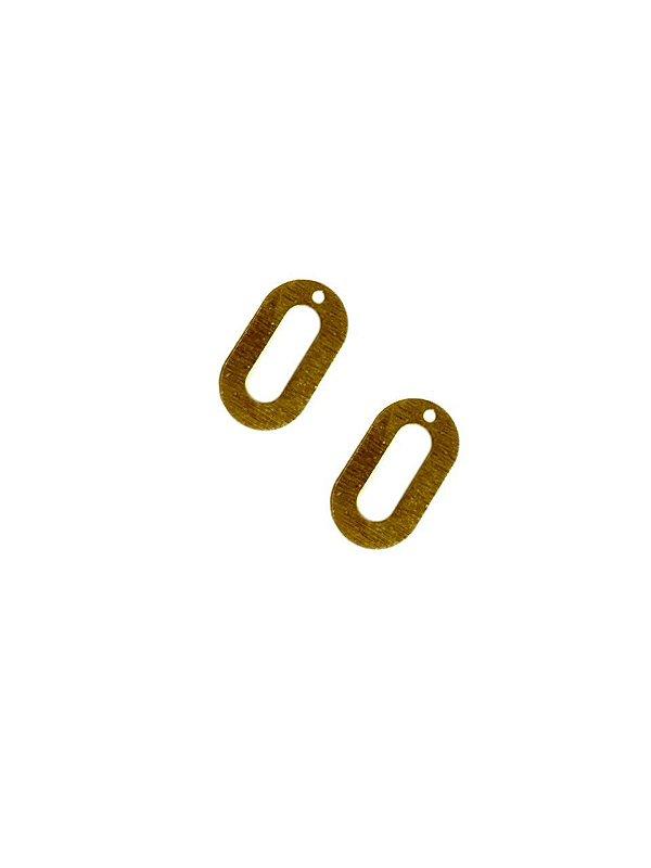 01-2446 1/2 kg de Estamparia Oval Vazada Lixada P 19mm x 11mm