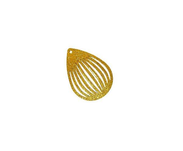 01-2491 1/2 kg de Estamparia Gota Vazada Diamantada P 23mm x 11mm