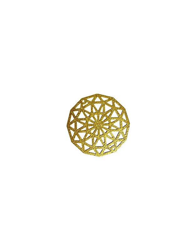 01-2432 1/2kg de Estamparia Mandala Diamantada em Latão M 29mm