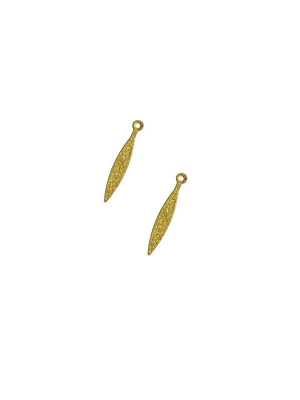 01-2453 1/2kg de Estamparia Pingente Navete Diamantada em Latão 24mm x 4mm
