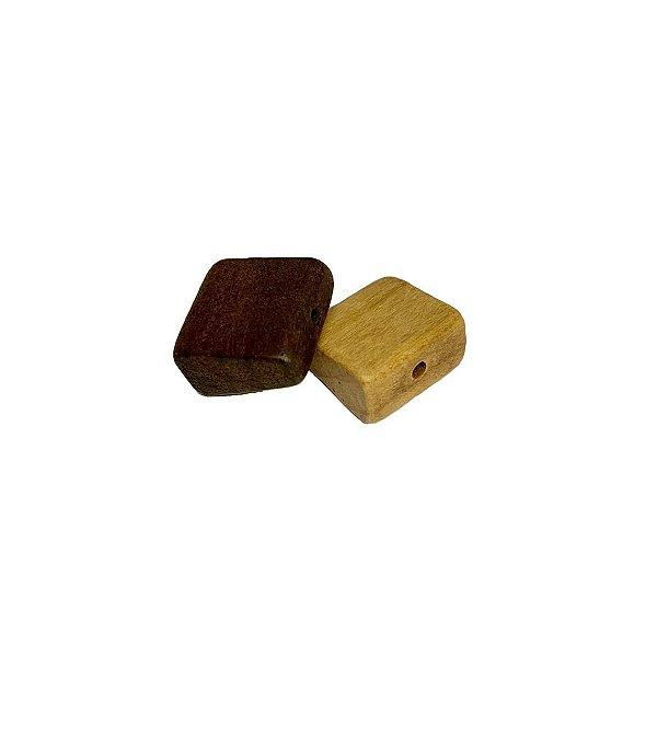 04-0071 Pacote com 500 Madeiras Quadradas c/ Furo Passante 19mm