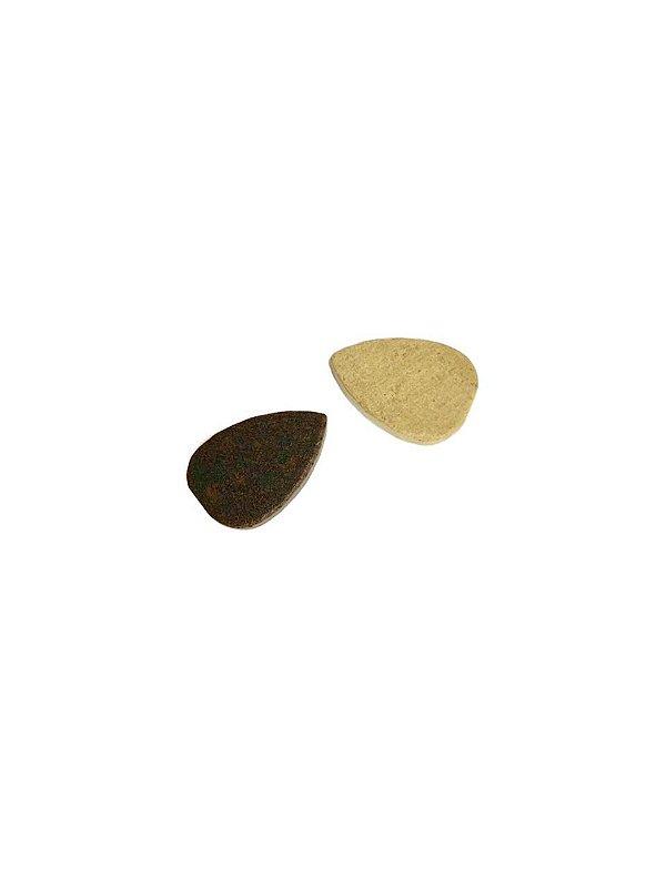 04-0090 Pacote com 200 Madeiras Gota com Passante 19mm x 12mm