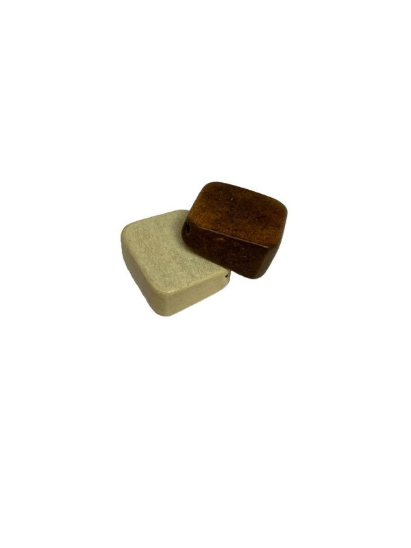 04-0089 Pacote com 200 Madeiras Quadradas com Passante Diagonal 20mm