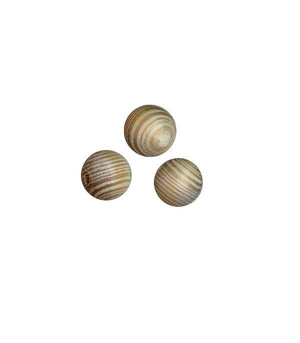 04-0106 Pacote com 100 Madeiras Bola com Passante 12mm