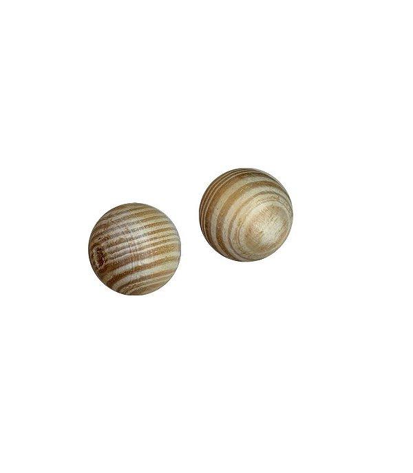04-0111 Pacote com 100 Madeiras Bola com Passante 15mm