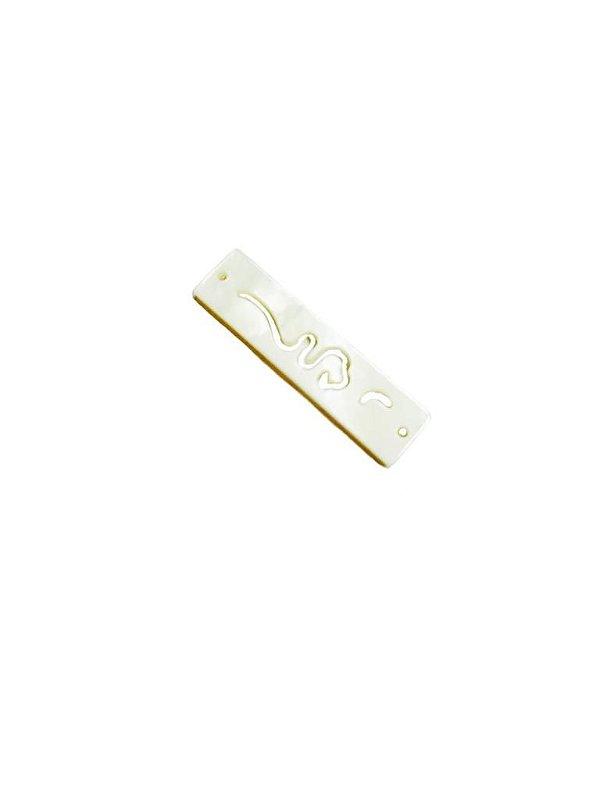12-0277 Pacote com 50 Entremeios de Madrepérola Retangular 8mm x 30mm