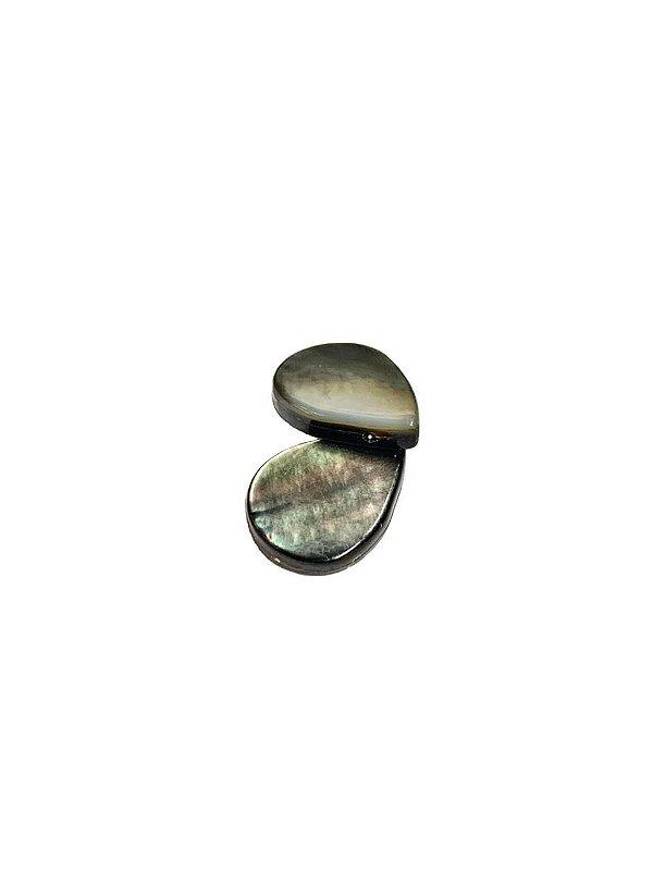 12-0153 Fio de Madrepérolas Negras Gota 14mmx18mm