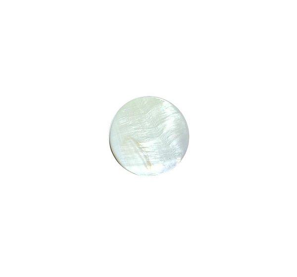 12-0221 - Pacote com 100 Madrepérolas Marfim Chaton Redondo 25mm (sem furo)