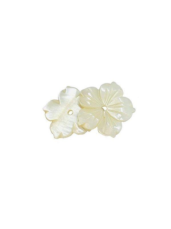 12-0280 Pacote com 50 Madrepérolas Flor com Furo Central 23mm