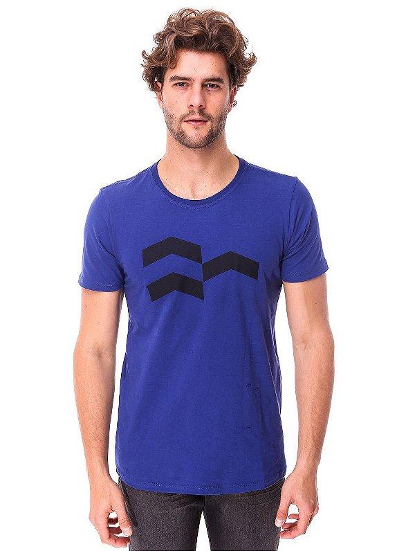 Camiseta Símbolo Gráfico Azul Escuro
