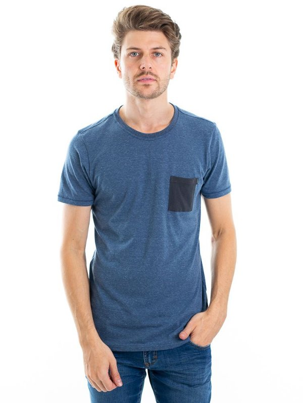 Camiseta Pocket Azul