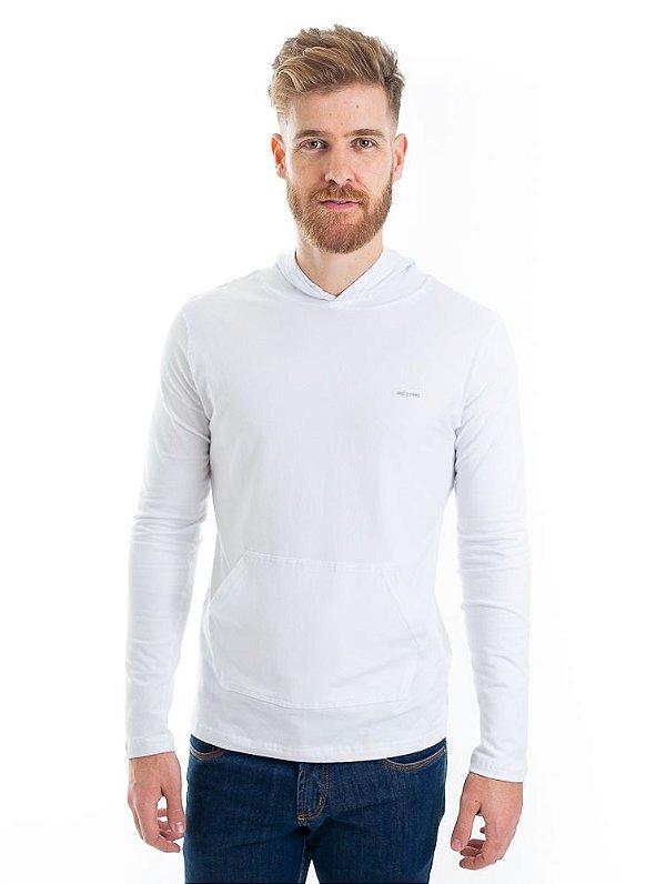Camiseta Cotton Capuz Branco